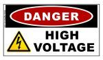 DANGER: High Voltage Sticker - Safety Stickers